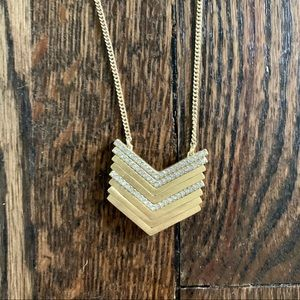 J. Crew reversible arrow pendant necklace